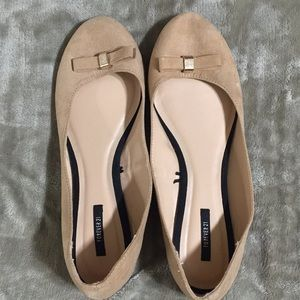 Forever 21 Nude Bow Flats